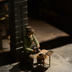 戦時中 学生/ジオラマ/はじめてフォト投稿 昔の風景のジオラマ