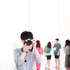自分/はじめてフォト投稿 鏡に映る自分を撮影 良い明るさで撮れたと…