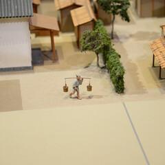 みんなにおすすめ/江戸東京博物館/ジオラマ 一人で頑張ってる