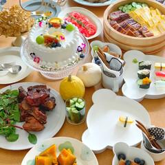 ギフトボックス ベア/tak キッズディッシュ タック(お子様プレート、皿)を使ったクチコミ「娘の誕生日会」