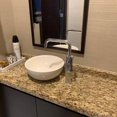 トイレカウンター/大理石トレー/トイレ収納/モノトーン/整理収納/happy♡storage トイレカウンターは掃除しやすいようにあま…