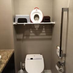 トイレ/トイレ収納/突っ張り棒/突っ張り棚/掃除アイテム/収納/... 我が家の掃除がしやすいアイテムは、「つっ…