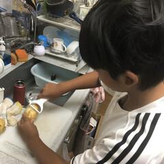 小学生男子/初めての/男子ごはん/カレー/食事情 5年生男子の初めてのカレー作り♪ 全部一…