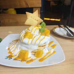 マンゴー/パンケーキ/至福のひととき/おやつタイム/みんなにおすすめ パンケーキ♪