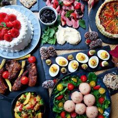 ローストビーフ/手作りケーキ/イベント料理/料理/手作りごはん/手作り/... おうちクリスマス🎄 全員集合出来なかった…(1枚目)
