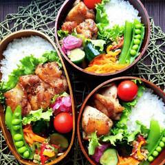 スヌーピー/時短/作り置き/野菜たっぷり/チキン/ランチボックス/... チキン弁当でこんにちは🙇 タルタルソース…