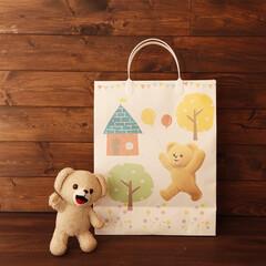 ファーファ/ハッピータック付紙袋/紙袋/ギフト/プレゼント/手提げ袋