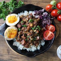 魯肉飯/スキレット/台湾料理/わたしのおすすめ 第5弾は【魯肉飯】 じっくり煮込んだとろ…