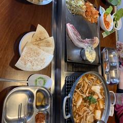 食事情 台湾で中国人の友達と韓国式の焼肉へ行った(1枚目)
