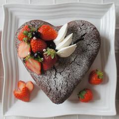 バレンタイン2020 ミント入りガトーショコラです^^ 天使の…