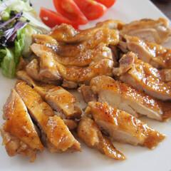 わたしのごはん/令和元年フォト投稿キャンペーン/雨季ウキフォト投稿キャンペーン/おうちごはんクラブ/手料理/家庭料理/... 鶏の照り焼きを作りました^^(1枚目)