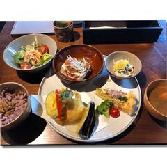 ヘルシーランチ/明日香村/自然がいっぱい/わたしのごはん 奈良県の明日香村で頂いたご飯。