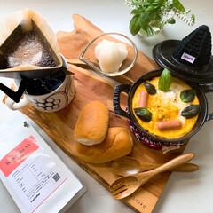 アラビアブラックパラティッシ/サブスクコーヒー/ストウブ鍋 モッツアレラオムレツとサブスクコーヒーで…(1枚目)