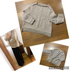 手編み アルパカセーター 編み上がり^ ^