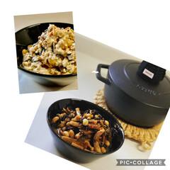 ストウブ鍋 おまめとひじき煮 リメイクの白和え