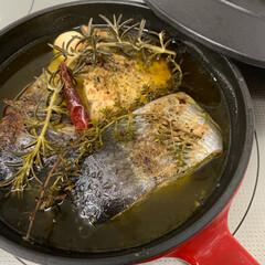 ストウブ鍋 鮪のコ よこわをオイル煮