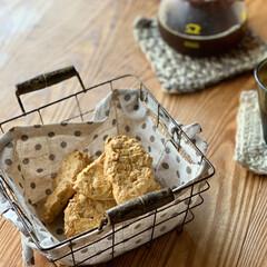 手編み/ダイソー オートミールのザクザククッキー(1枚目)