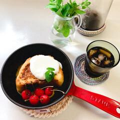 手編み/おうちパン/イッタラ/ストウブ鍋 ミルクハースでフレンチトースト