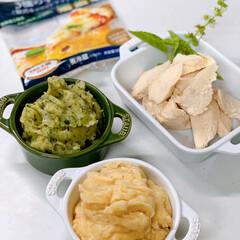 我が家のテーブル/リミアな暮らし 伸びるタラモ&バジルポテトサラダ