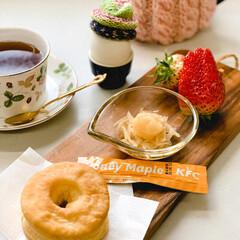 手編み 苺いちごイチゴ朝ごぱん