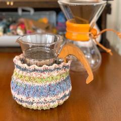 オパールコットン/手編み 水滴防止に 夏用コットンカバー