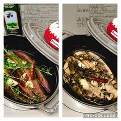 ストウブ鍋 鰹のオイル煮(1枚目)