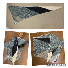 オパール毛糸/手編み 280cm大判ストール
