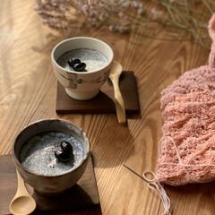 手編み 黒ごまプリン