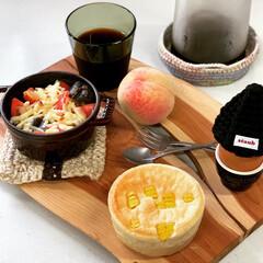 手編み/イッタラ/おうちパン/ストウブ鍋 なすの肉味噌炒め リメイク あさごぱん