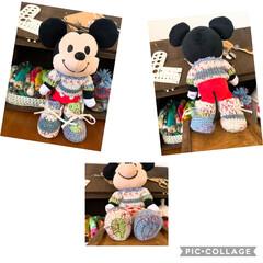オパール毛糸/手編み ミッキーマウス ぬいもーず ミニセーター…