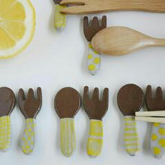 再販/大人気/クリーマ/ミンネ/レモンイエロー/夏カラー/... スプーンフォークの黄色も、増やしました♪…