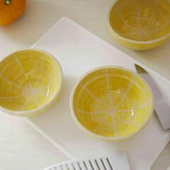 再販/クリーマ/ミンネ/陶器/小鉢/フルーツ/... 今、思うと、レモンじゃなくてグレープフル…(1枚目)