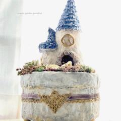 ミンネ/minne/ミンネで販売中/plantsgardenparadise/プランツガーデンパラダイス/白牡丹/... 少し前に作った とんがり屋根のおうち 多…(3枚目)