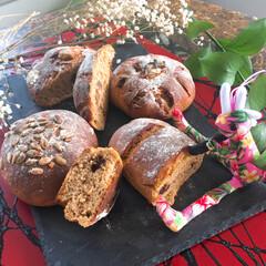 自家製ラムーズン/手作り/無添加/オーガニック/大豆粉/天然酵母パン/... 大豆粉で天然酵母パンを焼いてみたよぉ〜🍞…