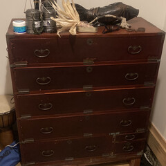 靴の収納 古い箪笥を下駄箱にリメイク