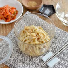 もやし/節約レシピ/ナムル/簡単レシピ/レシピ/料理/... 5分で!もやしナムル。レンジで簡単おつま…