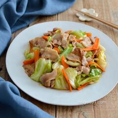 夕食/レシピ/フライパン/簡単/簡単レシピ/簡単おかず/... キャベツと豚バラ肉のオイスターソース炒め…