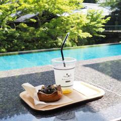 足湯カフェ/伊豆/東府やベーカリー&テーブル/はじめてフォト投稿 足湯に浸りながら新緑を愛で おいしいパン…