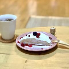 カフェ風/ダスティカラー/プレート/食器/ミルクレープ/餃子の皮アレンジ/... 先月作った*餃子の皮でミルクレープ*  …(1枚目)