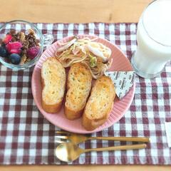 フォーク ダルトン カトラリー SVELTE CUTLERY デザートフォーク マットゴールド色 ステンレス シンプル 食洗機使用可 | DULTON(フォーク)を使ったクチコミ「*先日の朝ごはん*  チーズ・残り物クリ…」