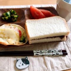 キャンドゥ/ダイソー/箸/朝ごはん/箸置き/ネコ/... 今日の朝ごはん  昔キャンドゥで買った、…(1枚目)