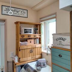 室内用 ホスクリーン 標準サイズ SPC-W-P 川口技研(室内物干し)を使ったクチコミ「*我が家の洗面所*  何年も前に、洗濯機…」