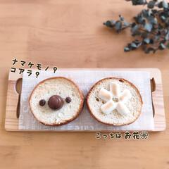 朝ごはん/トーストアレンジ/食パンアレンジ/ラウンド型/おうちごはん/簡単 昨日、夫が用事で出かけたついでに、買って…