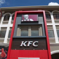 カンボジア/KFC/はじめてフォト投稿 カンボジアのKFC。