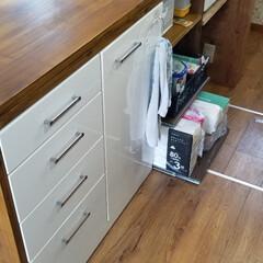 ダイニング/キッチン/収納/DIY/キャットタワー/カウンターテーブル/... 自宅に合うカウンターテーブルがなかなか無…(3枚目)