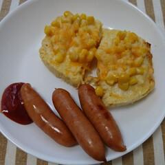 シャウエッセン 1020g | コストコ(その他肉、ハム、ソーセージ)を使ったクチコミ「おから蒸しパンとシャウエッセンの朝ごはん」