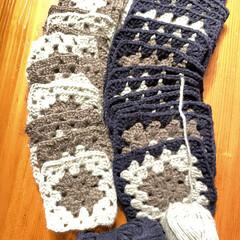 ベスト/娘サイズ/モチーフ編み/かぎ針編み/ハンドメイド/手作り/... 娘サイズのベスト🦺 モチーフ編みを繋げた…(1枚目)