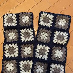 ベスト/娘サイズ/モチーフ編み/かぎ針編み/ハンドメイド/手作り/... 娘サイズのベスト🦺 モチーフ編みを繋げた…(2枚目)