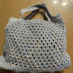 トートバッグ/たま編み/かぎ針編み/ハンドメイド/手作り/ハンドメイド作品/... 糸足らずで作りかけだったバッグ完成❣️ …(2枚目)
