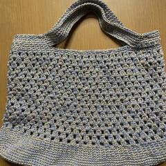 トートバッグ/たま編み/かぎ針編み/ハンドメイド/手作り/ハンドメイド作品/... 糸足らずで作りかけだったバッグ完成❣️ …(1枚目)